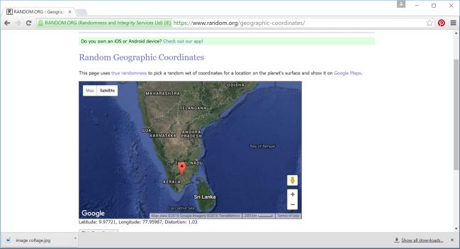 Map of Tamil Nadu