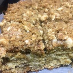 Peanut Butter Banana Crumb Cake