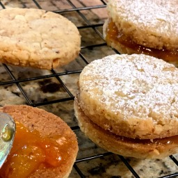 Apricot Ginger Sandwich Cookies