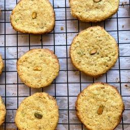 Pistachio Semolina Shortbread Cookies