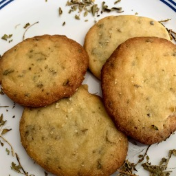 Lemon Verbena Shortbread Cookies