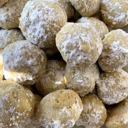 Pistachio Walnut Snowballs